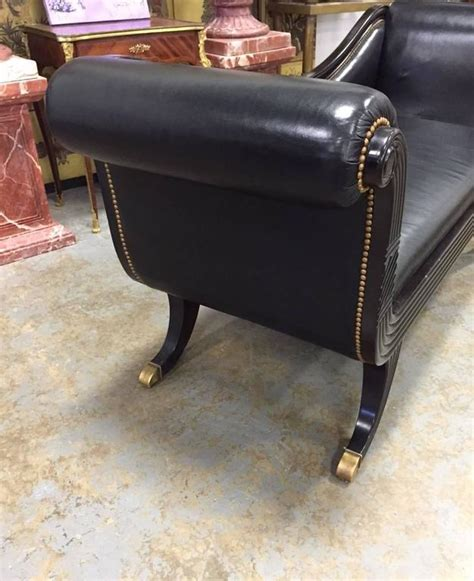 duncan phyfe sofa for sale duncan phyfe style black leather sofa for sale at 1stdibs