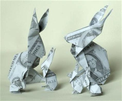 Dollar Bill Origami Rabbit - how to fold a money origami rabbit lovetoknow