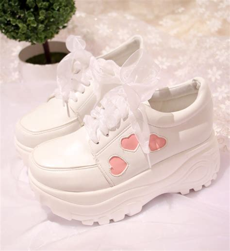 japanese kawaii lace platform shoes 183 fashion kawaii