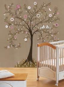 painted wall murals nature themed bedroom off the wall