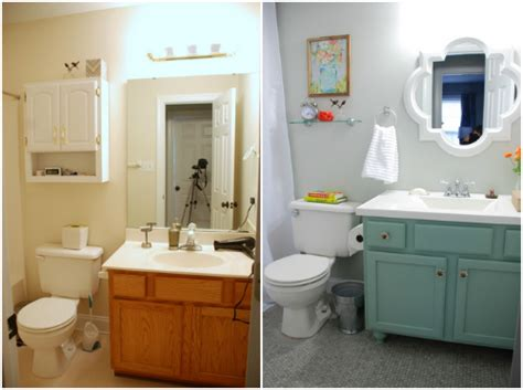 bathroom makeovers before and after pictures lively green door bathroom makeover reveal