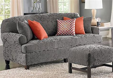 couch slipcovers with separate cushion covers sure fit slipcovers stretch jacquard damask separate seat