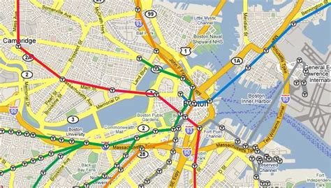 boston map with t stops boston subway map overlay my