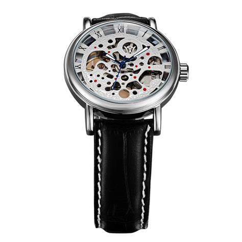 Ouyawei Skeleton Leather Automatic Mechanical Oyw1218 Wh ouyawei skeleton leather automatic mechanical