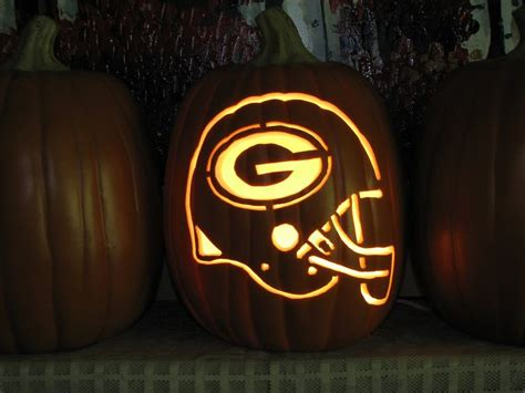 green bay packers helmet pumpkin carving packers