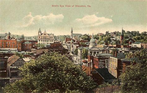 American Colonial Houses file bird s eye view of staunton va jpg wikipedia
