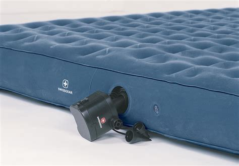 swissgear swiss comfort airbed with blue 93146 air beds at sportsman s guide