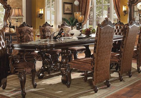 Acme Dining Room Set Acme Versailles 61100 Set 5 Cherry Dining Room Set Traditional Dining Sets