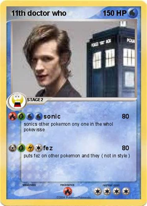 doctor who cards pok 233 mon 11th doctor who sonic my card