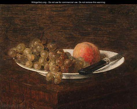Still Still Still In Nature Morte - nature morte pche et raisin ignace henri jean fantin