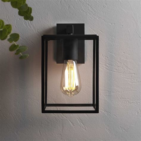 astro exterior wall lights astro lighting 7389 box black exterior wall light 1354003
