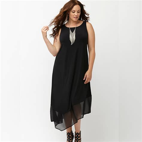 New High Low Fit Dress aliexpress buy 2016 dress sleeveless large dress chiffon black high low maxi dress