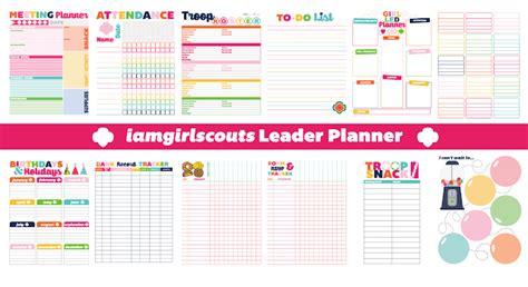I Am Girl Scouts Cub Scout Planning Calendar Template 2018 2019