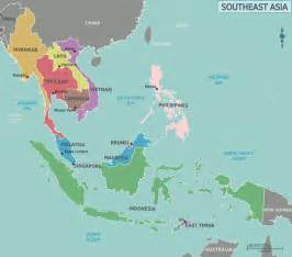 Where Is Asia On The Map by Map Of Southeast Asia Mapsof Net