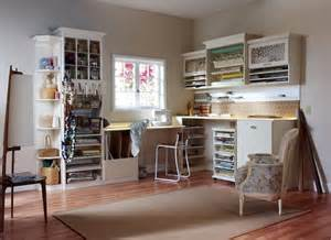 craft room storage traditional den library office