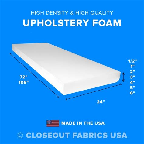 upholstery foam high density sheet seat cushion