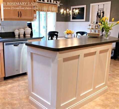 Kitchen With Island Images 21 Rosemary Board Batten Kitchen Island Makeover