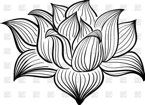 outline of lotus flower outline of lotus flower royalty free vector clip image