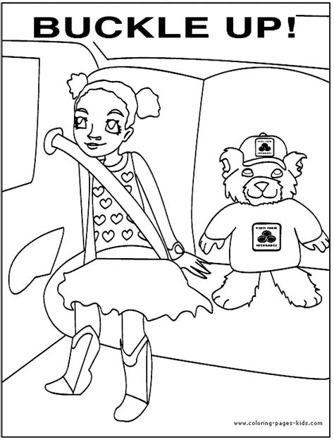 safety coloring pages free coloring pages of road safety for children