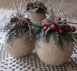 rustic ornaments by inthebluebellwoods 18 00 christmas