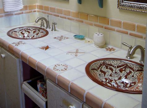 Mexican Tile Bathroom Ideas Brown Mexican Tiles Mexican Talavera Mud Bullnose Tile Ideas For The House Pinterest