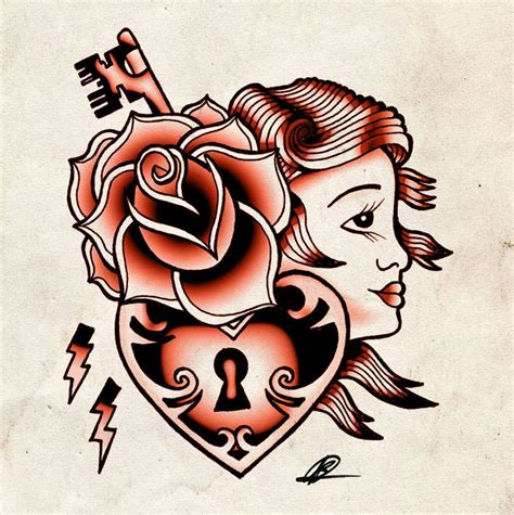 tattoo rose old school school flash the on this ink