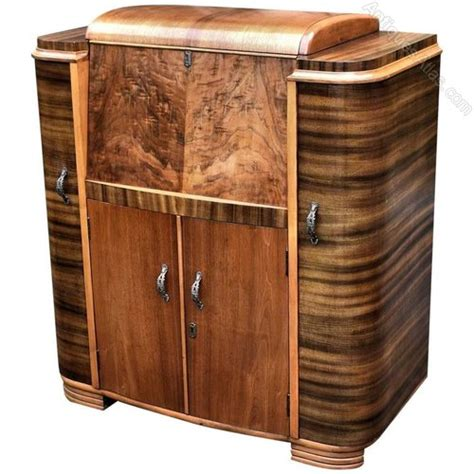 superb deco walnut cocktail cabinet antiques atlas