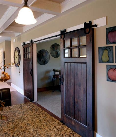 Sliding Wood Doors Interior Wooden Sliding Door Give The Interior A Rustic Touch Interior Design Ideas Ofdesign