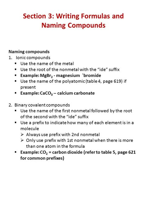 Writing Formulas And Naming Compounds Worksheet by Writing Formulas And Naming Compounds Worksheet