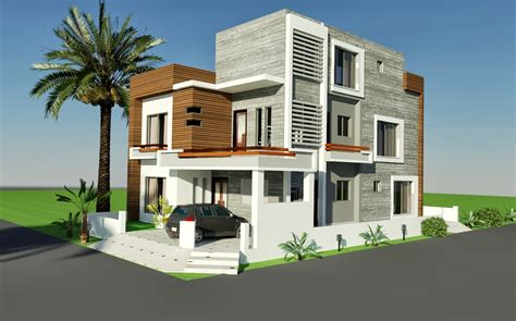 home design 8 marla 3d front elevation com 10 marla corner house plan design