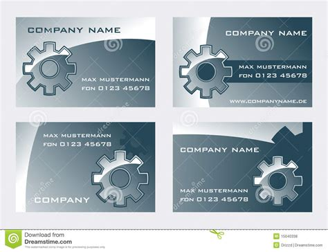 turning wheel card template gear royalty free stock photos image 15040338