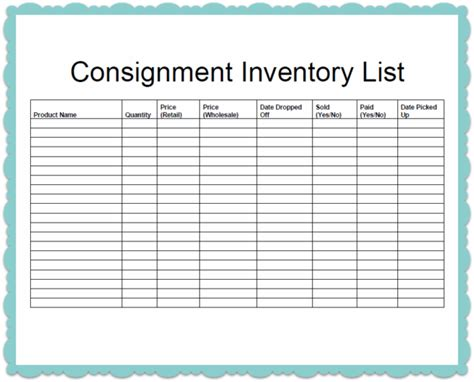 inventory checklist template helloalive
