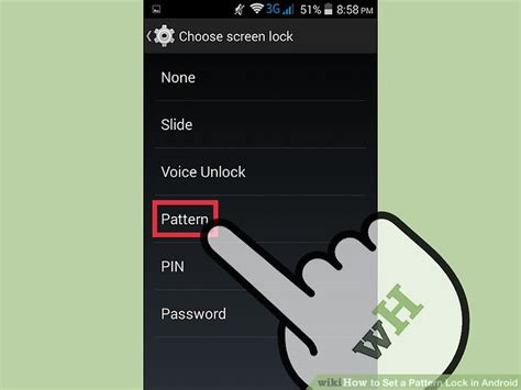 set pattern lock in android how to set a pattern lock in android 7 steps with pictures