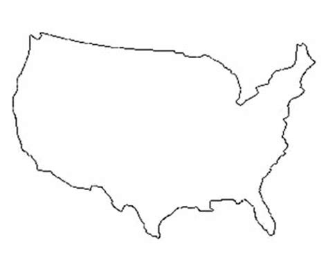 Usa Outline Image by Simple United States Outline Coloring Pages
