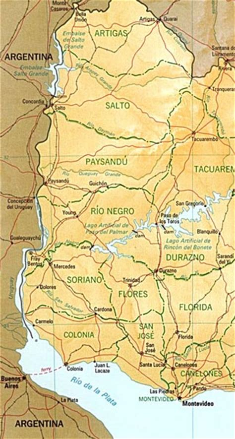 5 themes of geography uruguay uruguay maps including outline and topographical maps