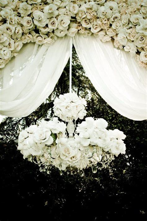 Ideas For Old Chandeliers Picture Of White Rose Chandlier Hanging In A White Rose
