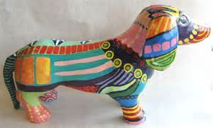 How To Make Paper Mache Animals - paper mache dachshund we designed and created our paper