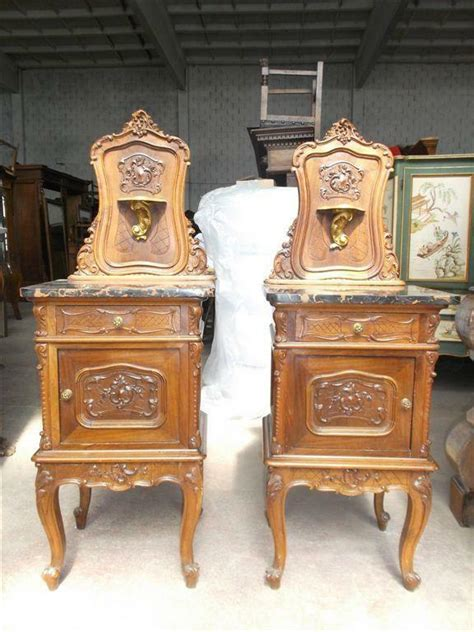 Antique Nightstands With Marble Top by Italian Marble Top Antique Walnut Carved