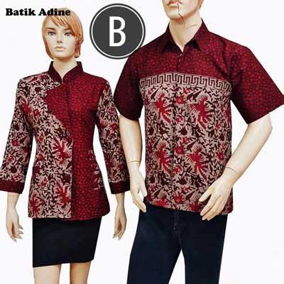 design batik bagus model baju seragam batik karyawan dan kantor batik adine