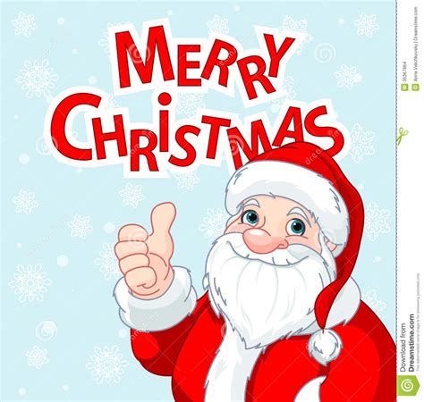 thumbs up santa claus greeting card stock vector image