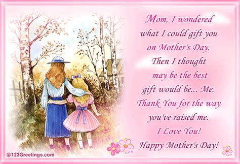 How Do Ecard Gift Cards Work - a special gift for your mom free love you mom ecards greeting cards 123 greetings