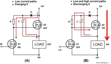 charge a path for capacitor s charging and another for discharging it electrical