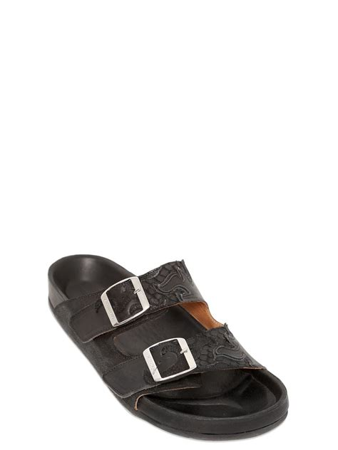 marant sandals lyst marant etoile gail embossed leather sandals