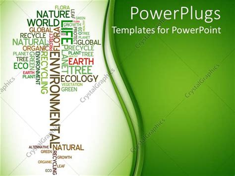powerpoint templates free ecology powerpoint template tree made of words related to ecology
