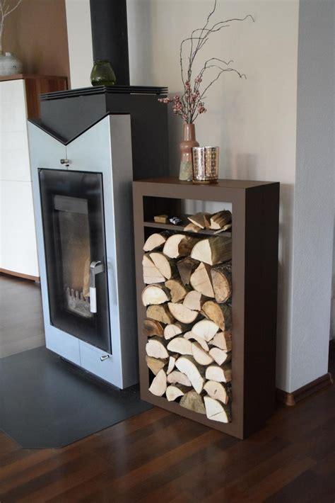 brennholzregal innen kaminholzregal rechteck innen mit anfeuerholzfach aus metall