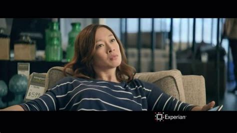 Experian Commercial Ottoman Actress | experian tv commercial credit swagger furniture