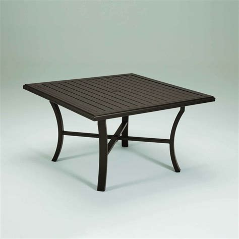 tropitone banchetto 48 quot square dining table leisure living