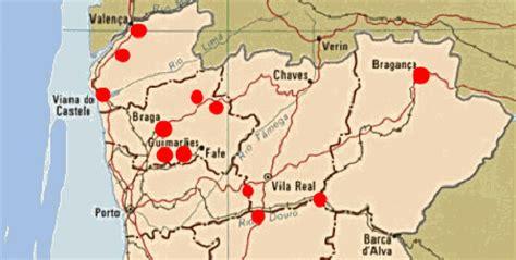 portugal pousadas map norhtern portugal pousadas