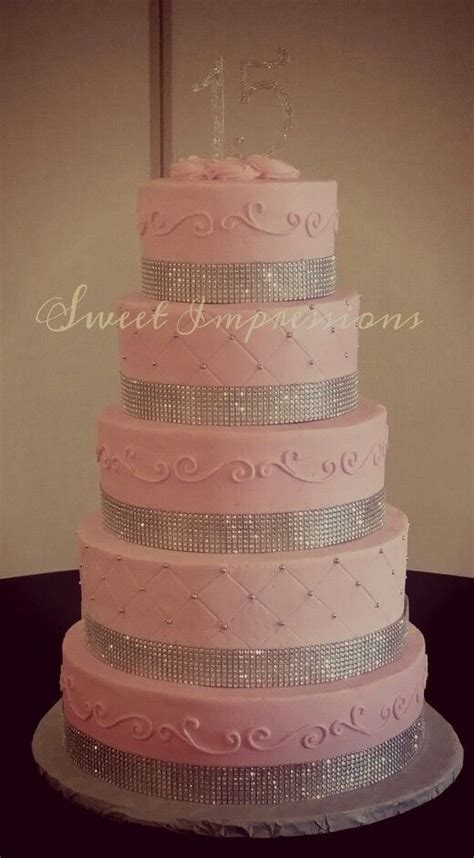 paris themed quinceanera cakes 15th birthday or quinceanera pink cake with some bling