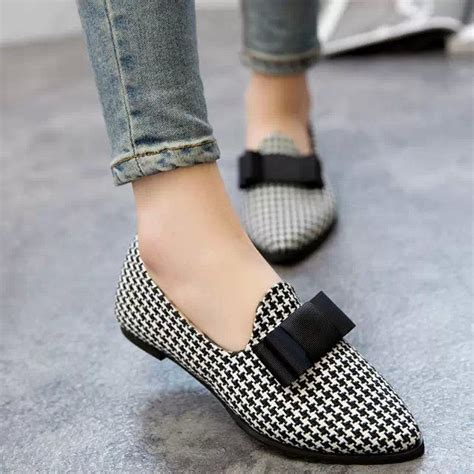Tweed Ribbon Vnc Flat Shoes free shipping a korean ribbon suede shoes with thick with